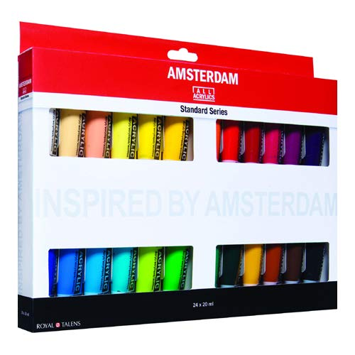 Amsterdam Royal Talens Introset III-Pintura acrílica (24 x 20 ml), Multicolor, 24 x 20Ml