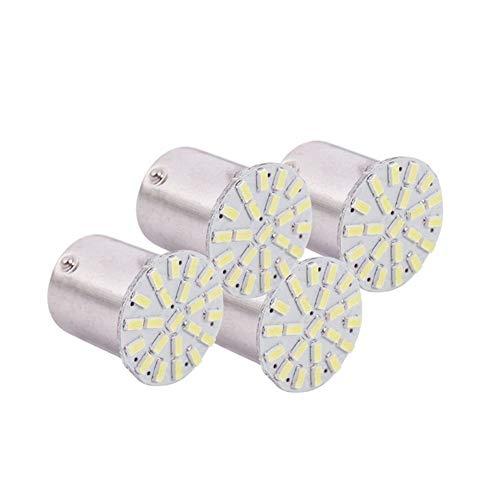 MSJFUBANGBM FUBANGBM 4X 1156 BA15S P21W 1129 Coche Blanco de 22 1206 SMD LED de la Cola del Bulbo de la señal de luz de lámpara (Color : White)