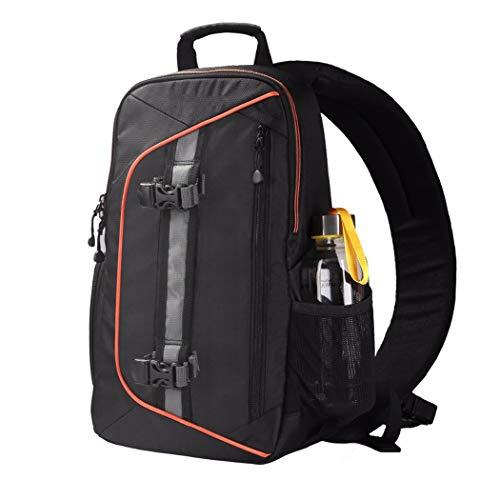 SYF&DJN Camera Sling Messenger Mochila Bolsa De Cámara DSLR De Gran Capacidad con Funda para Lluvia Adecuado para Canon Nikon Sony Bolsas para Cámara