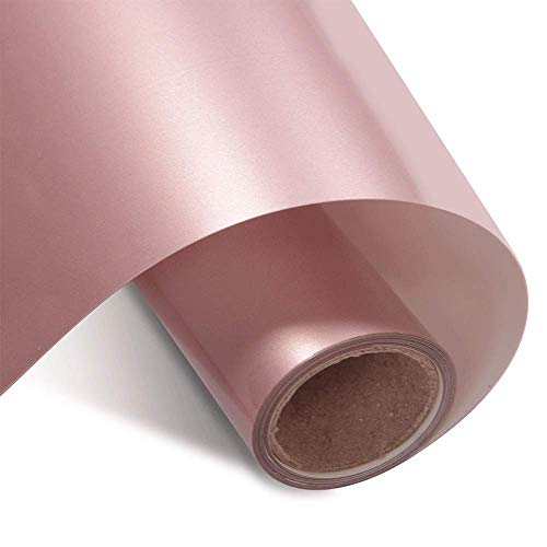 """Rose Gold Heat Transfer Vinyl HTV Roll 12""""x12ft for Tshirt Compatible with All Cutting Machines"""