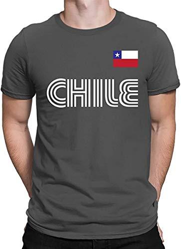 Tengyuntong UiikIIDl Camisetas y Tops Hombre Polos y Camisas ELLAMASION Chile Soccer Jersey Men's T-Shirt