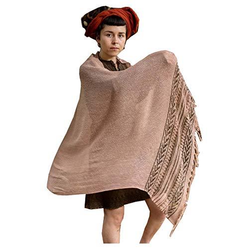 BREEZE zalm roze handgeweven katoenen sjaal sarong dreads haarband natuurlijk geverfd wrap blok gedrukt ademend Festival Gypsy Tribal AJJAYA