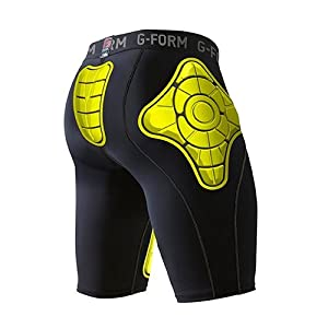 G-Form Youth Pro-T Padded Compression Shorts, Yellow, X-Large by Pro-Motion Distributing - Direct
