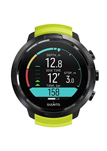Suunto Unisex - Adultos D5 Ordenador de Buceo, Color Black Lime