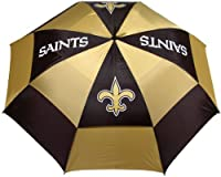"Team Golf NFL 62"" Golf Umbrella with Protective Sheath, Double Canopy Wind Protection Design, Auto Open Button, New Orleans Saints"