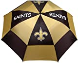 Team Golf NFL 62' Golf Umbrella with Protective Sheath, Double Canopy Wind Protection Design, Auto Open Button, New Orleans Saints