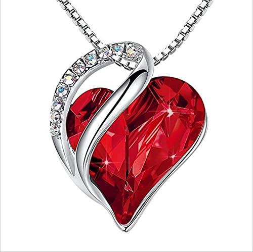 FSTMVV Pendientes para Regalo de joyería de Mujer, Pendientes de botón para Mujer de Plata de Ley, Adornados con Cristales Pendientes de corazón con Caja de Regalo Pendientes de aro con Cristales
