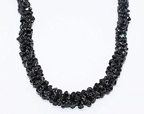 LKBEADS AAA kwaliteit natuurlijke zwarte spinel 24 inch gladde ongesneden chips nuggets/zwarte spinel chips kralen/groothandel prijs grootte- 3-4mm code-high-25452