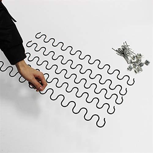 Pilang Zxxin-Muelle de compresión, Kit de reparación Trasera con Resorte, 5pcs, 35 cm - 60 cm Sofá Sofá reclinable Reemplazo de reemplazo Clips de Asiento de 40 mm de uñas de Alambre, Accesorios