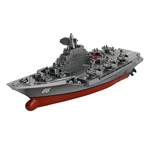 Toyvian Control Remoto Buques de Guerra Marina de Guerra Acorazado RC Portaaviones Barco Militar Modelo de lancha rápida Juguetes de Agua