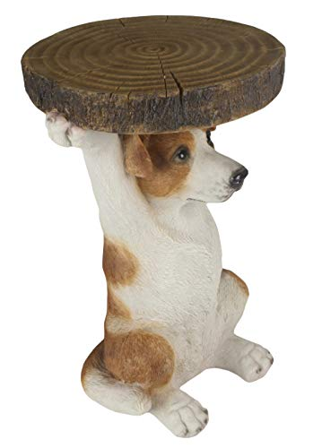 Middle-England 36cm Jack Russell Dog Side Occasional Table Plant Stand Statue Figure Polystone