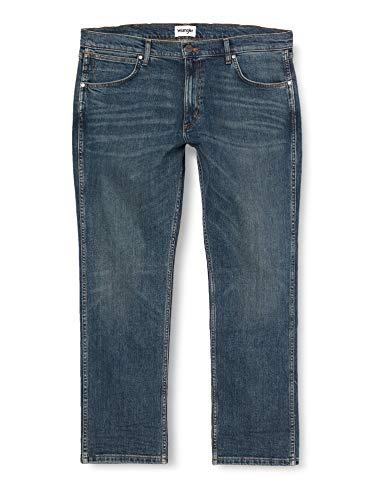 Wrangler Greensboro Jeans, Blu Green Night, 33 W/ 34 L Uomo