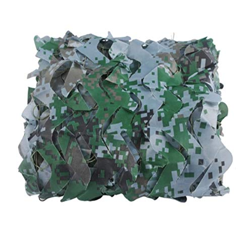Green Camouflage Net,hunting Gear Woodland Camo Tree Stand Wrap Camo Tablecloth Call Of Duty Decorations,for Woodland Sunshade Camping Party Shooting Hunting (Size:2x3m/6.5x9.8ft,Color:Digital)
