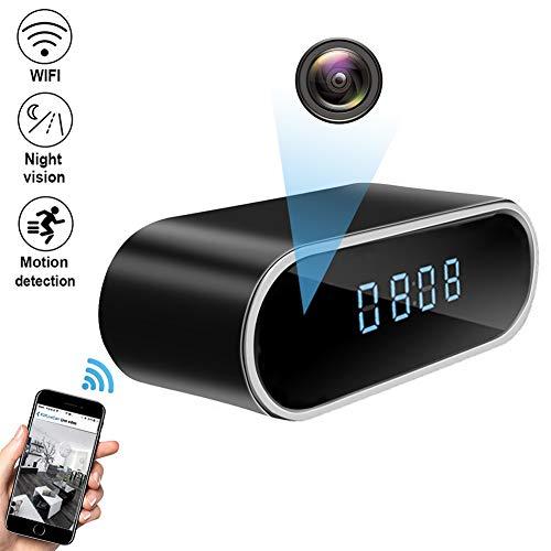 QUANDU WiFi Hidden Camera Clock Hidden Spy Clock Camera Night Vision Nanny Cam Mini Alarm Clock DVR...