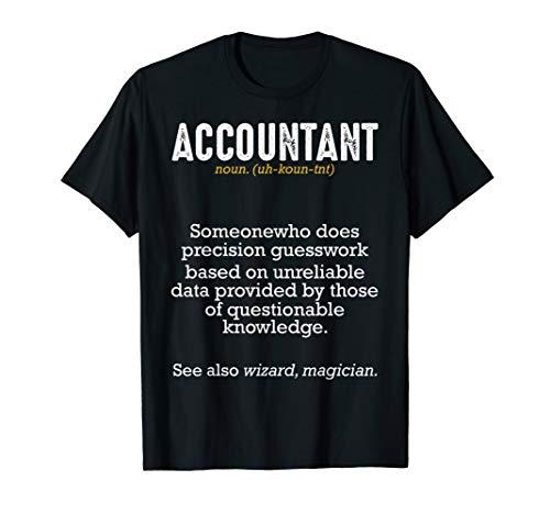 Accountant Definition Buchhalter Steuerberater Bilanz Lustig T-Shirt