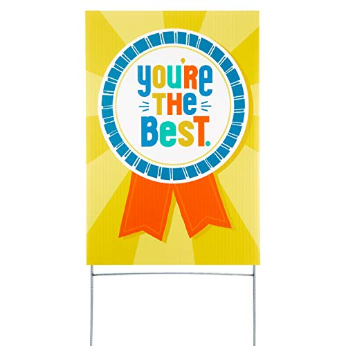Hallmark Encouragement or Thank You Yard Card, You're The Best (Yard Sign with Stake) (1499RZT9903)