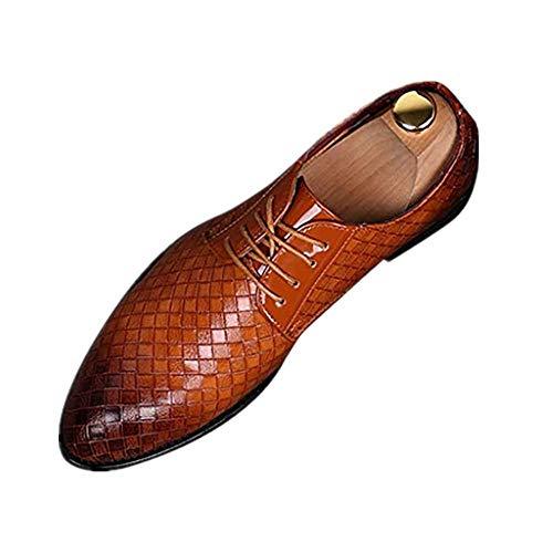 Dtuta Walkingschuhe,Herren,High-End-AtmosphäRe FüR MäNner Spitze Britische LäSsige Riemen Schlangenmuster Farblich Passende Business-BüRo Bequeme Schuhe