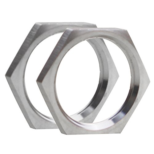 Dernord Cast Pipe Fitting Stainless Steel 304 Hex Locknut 1 Inch NPT Female (Pack of 2)