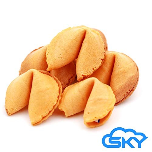 Sky Premium and Fresh Fortune Cookies Individually Wrapped, Bulk 100 Pcs, Perfect for Snacks, Lunch, Picnic, Birthdays, Graduation, Parties | Product of USA