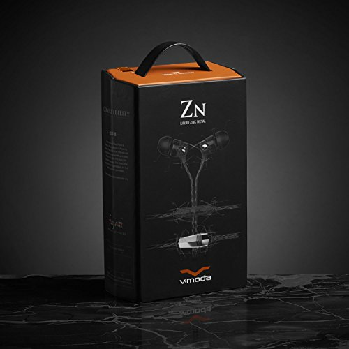 V-MODA Auriculares intraaurales, Zn para audiófilos con Mando de Tres Botones y micrófono