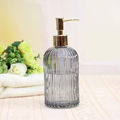 WZNING Hand Soap Dispenser Glass with 304 Rust Proof Stainless Steel Pump, Stylish Hand Lotion Bottle for Hand Soap, Empty Refillable Container housewares,Dispenser (Size : B)
