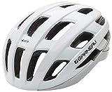 Louis Garneau, Hero Adjustable, Lightweight, CPSC Safety Certified Bike Helmet for Men and Women, White, Medium