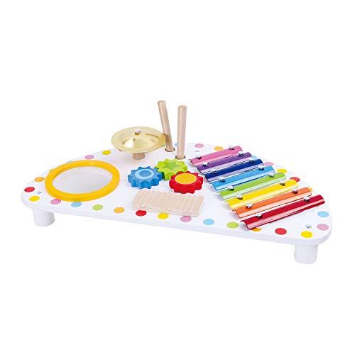 Tooky Toy Musikinstrumente-Set - Kinder Percussion-Set - Holzspielzeug - Glockenspiel - Baby Musikinstrumente - ab 3 Jahren