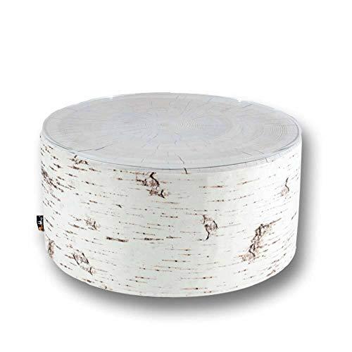 MeroWings – Table à forme de bouleau avec plan en verre pour extérieur – 35 x 60 cm – Birch Coffee Table