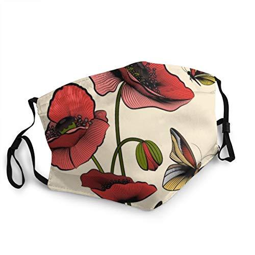 ocaohuahuaba Unisex Bouquet Red Poppies 15 cm * 20 cm Staubschutzhülle, waschbare und Wiederverwendbare Reinigung Gartenabdeckung