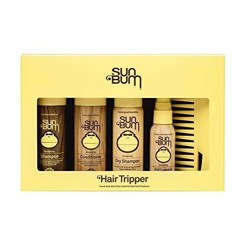 Sun Bum Hair Tripper I Hair Care Travel Size Kit with Revitalizing Shampoo,...