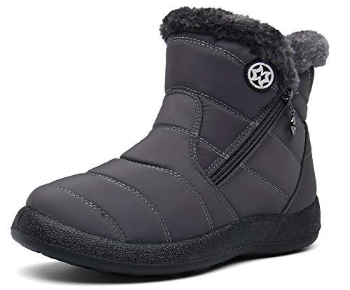 Zapatos Invierno Botas de Nieve para Mujer Hombres Botines Moda Calentar Forrado Botas Tacon Zapatillas Planas 2020 Impermeable