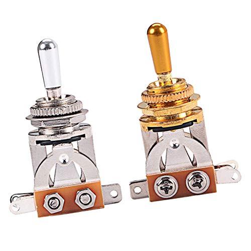 perfeclan Selector de Pastilla de Interruptor de Guitarra Eléctrica de Aleación 2 Piezas para Instrumento de Cuerda