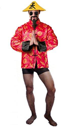 Disfraz de Chino Cudeiro - Hombre, L