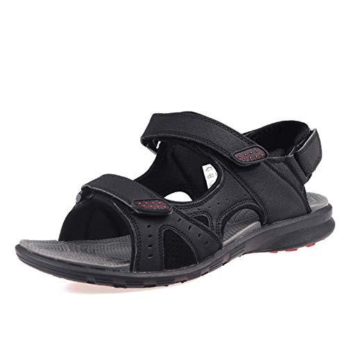 XJWDNX Grition Männer Sandalen Sommer Outdoor Strand Schuhe Wandern Treking Männlich Leichte Ledersandalen Offene Spitze Walking Atmungsaktive Schuhe