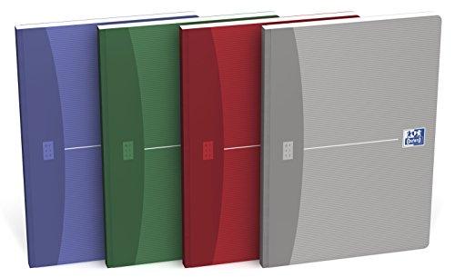 OXFORD 100103389 Broschiertes Buch Essentials 5er Pack mit 4 Farben A5 kariert 96 Blatt Soft Cover