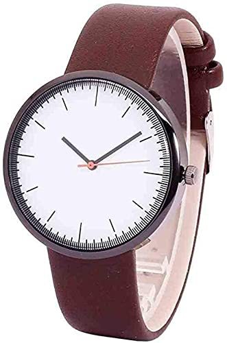 JZDH Mano Reloj Reloj de Pulsera Hombres Mujeres Vidrio Redondo Strap Strap Aleación Aviadores de Cuarzo Relojes de Pulsera Moda Simple Reloj Relojes Decorativos Casuales
