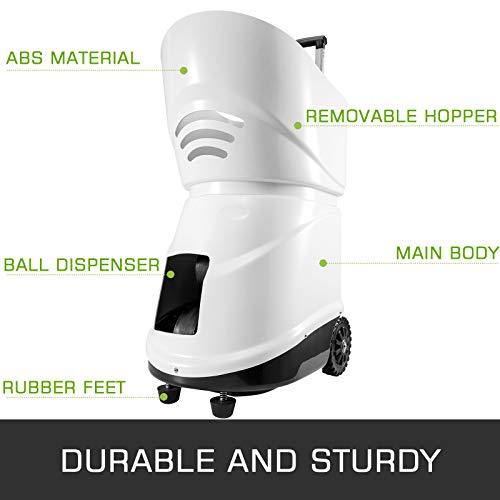 VEVOR 150 Ball Tennisballwerfer ABS Automatic Ball Launcher Automatischer Tennisballwerfer für Anfängerprofis(TS08) nur Android-Handy System geeignet