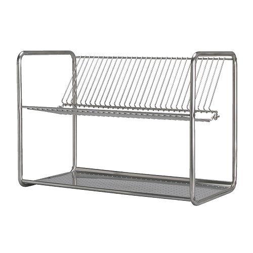IKEA ORDNING - afdruiprek van roestvrij staal - 50x27x36 cm