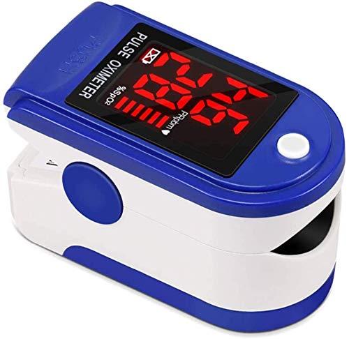 Oxygen Monitor Vinger, Pulsoxymeter zuurstofverzadigingsbereik Monitor Heart Rate Monitor met OLED-scherm, Instant Reading, licht van gewicht, compact en draagbaar (blauw)