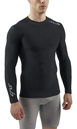 Sub Sports Herren Cold Kompressionsshirt Thermisch Funktionswäsche Base Layer langarm, Schwarz, S