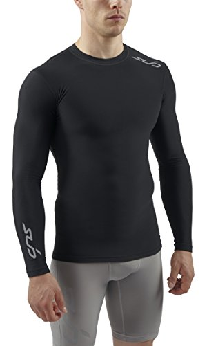 Sub Sports Herren Cold Kompressionsshirt Thermisch Funktionswäsche Base Layer langarm, Schwarz, L