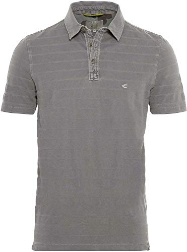 camel active Herren Polo Halbarm Polohemd, Light Grey, XX-Large