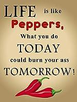 life like pepper メタルポスター壁画ショップ看板ショップ看板表示板金属板ブリキ看板情報防水装飾レストラン日本食料品店カフェ旅行用品誕生日新年クリスマスパーティーギフト
