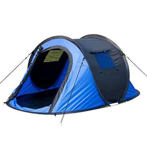 EUGAD Camping Pop Up Zelt Outdoor-Zelt für 2-3 Personen Wurfzelt Sekundenzelt wasserfest mit Tragetasche 145x240x100cm Blau