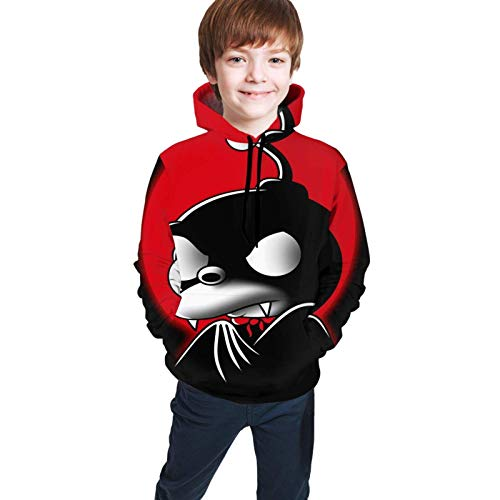 XCNGG Teen Sweater Boy Sweater Girl Sweater Sudadera con Capucha Futurama Nibbler Teen Hoodies Boy and Girl Sweater Pullover Funny and Good Looking