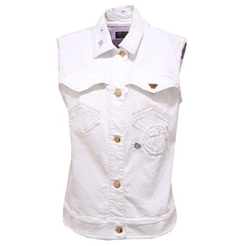Armani 7314O Giacca Senza Maniche Jeans Bianco Giacca Donna Jacket Woman [40]