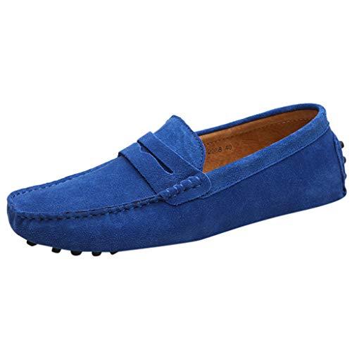 DAY.LIN schuhe herren Sommer Schuhe Bootsschuhe Loafers Halbschuhe Casual Fahren Schuhe Wildleder Slip on Slipper Erbsenschuhe