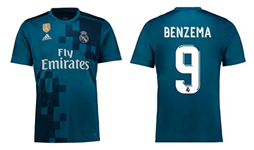 Trikot Kinder Real Madrid 2017-2018 Third WC - Benzema 9 (164)