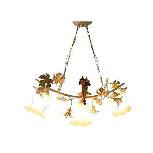 Candelabro de casa de campo - Iluminación colgante para isla de cocina, Accesorios de iluminación de comedor Colgando, Luz de mesa de billar, Lámpara de techo industrial de hierro mate XYJGWDD