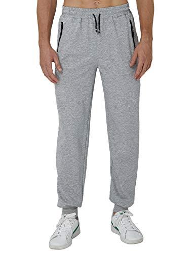 AIDEAONE Joggers Streetwear für Männer Fitness Hosen Laufhose mit Handytasche Reißverschlusstaschen
